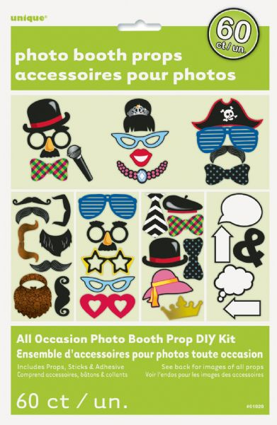 Photo Booth Props Kit (60)